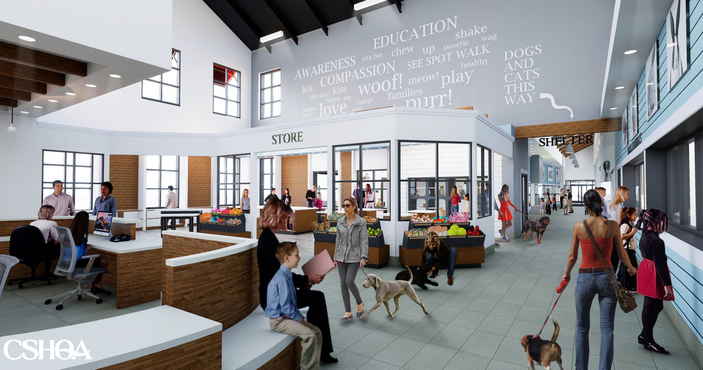 Idaho Humane Society Main Lobby, under construction