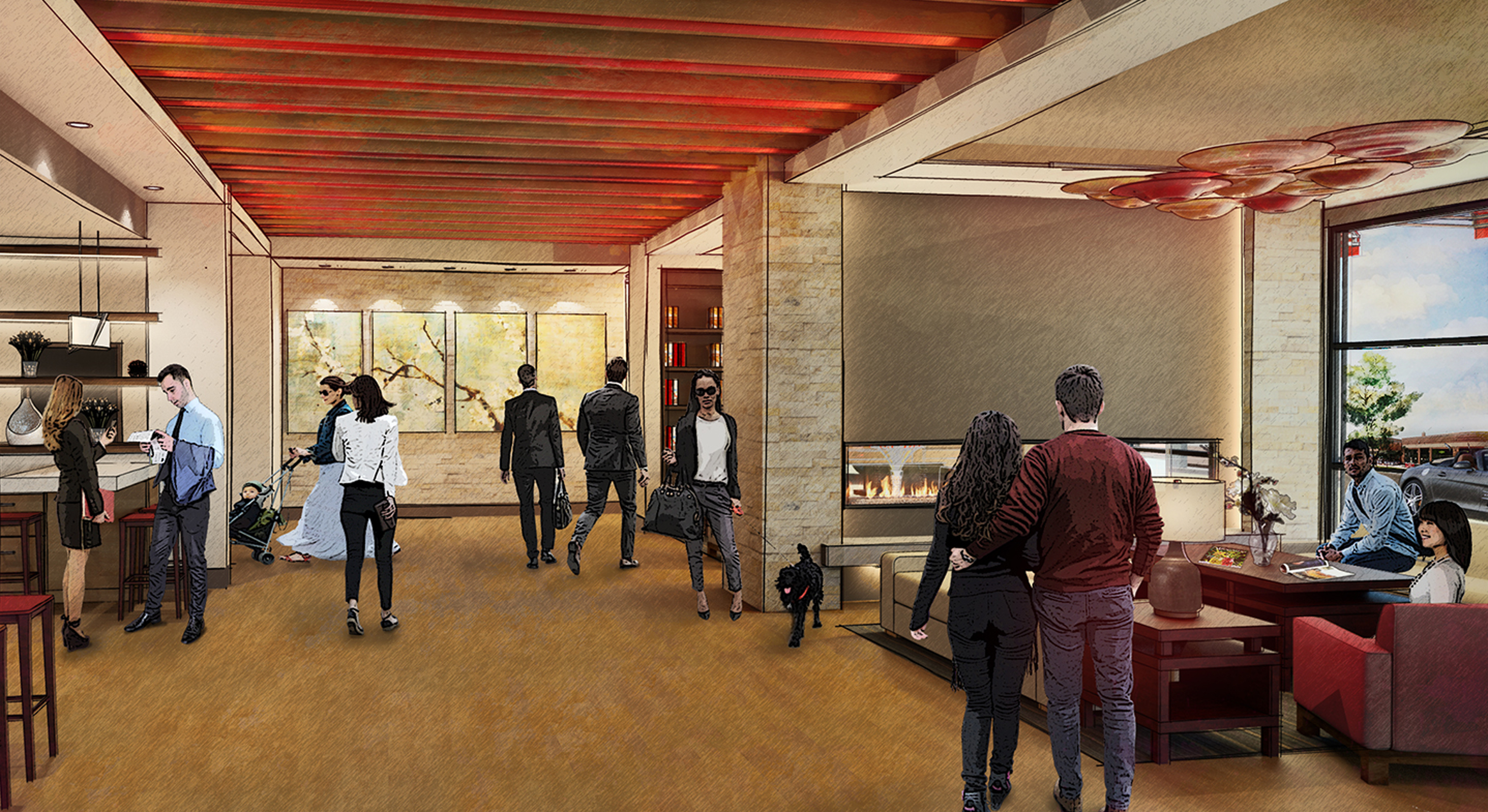 Inn at 500 Lobby Rendering