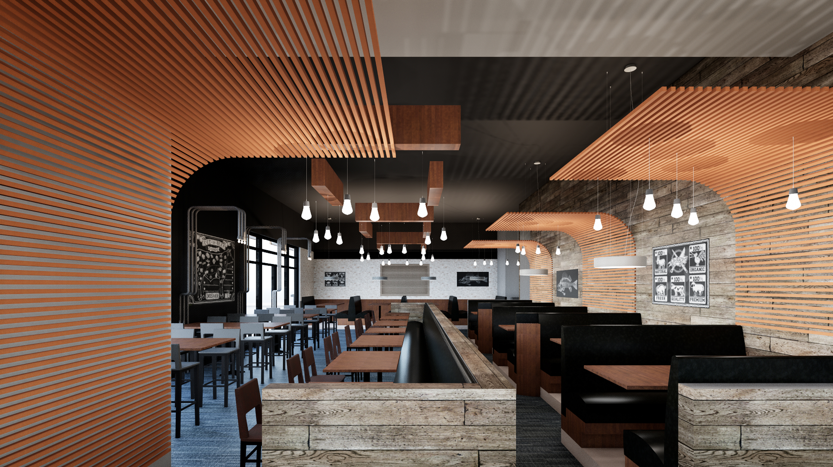 Smokin' Fins Restaurant, in design