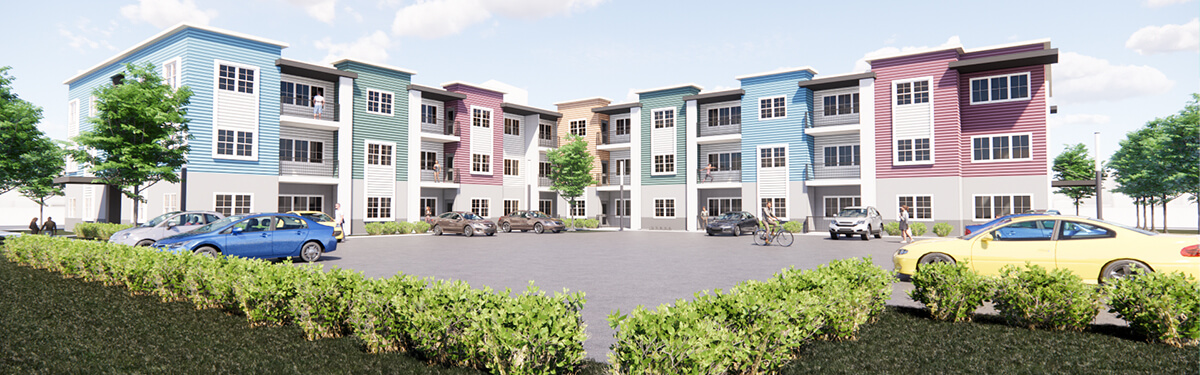Architectural Rendering of Northgate Apartments exterior in Sacramento, California